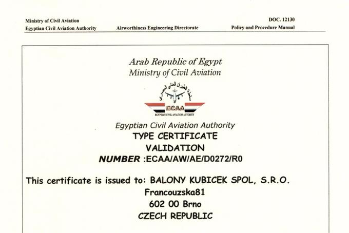 Certifikace v Egyptě dokončena
