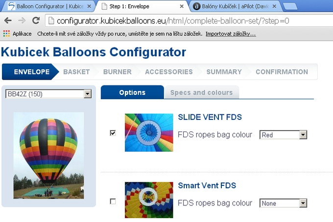 Konfigurátor balónu