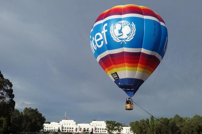 Balón Unicef v Austrálii