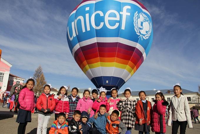 Asijská tour balónu Unicef