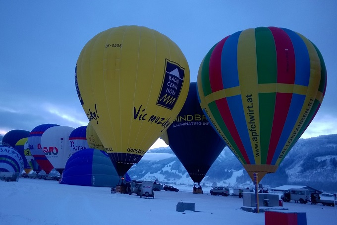 Přelet Alp - leden 2016