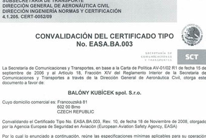 Certifikace v Mexiku
