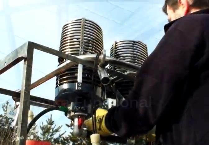 Kontrola hořáku a palivového systému