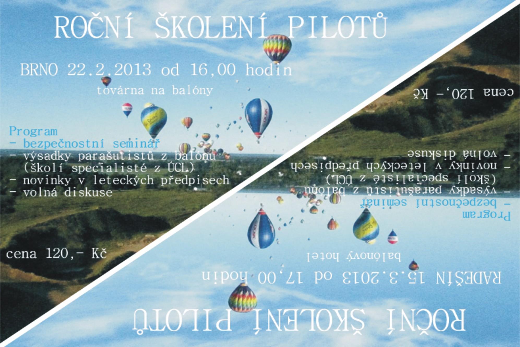 Školení pilotů