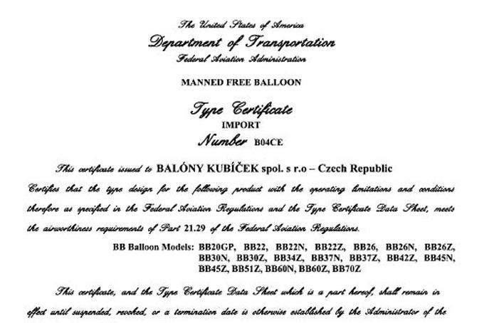 Certifikace v USA